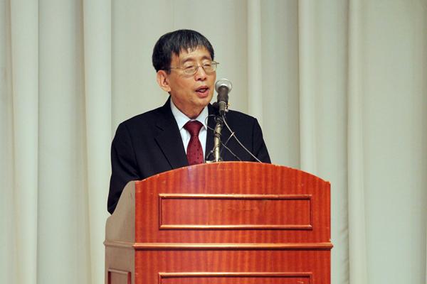 ▲취임사하는박효종방송통신심의위원회위원장(사진=방송통신심의원회홈페이지)